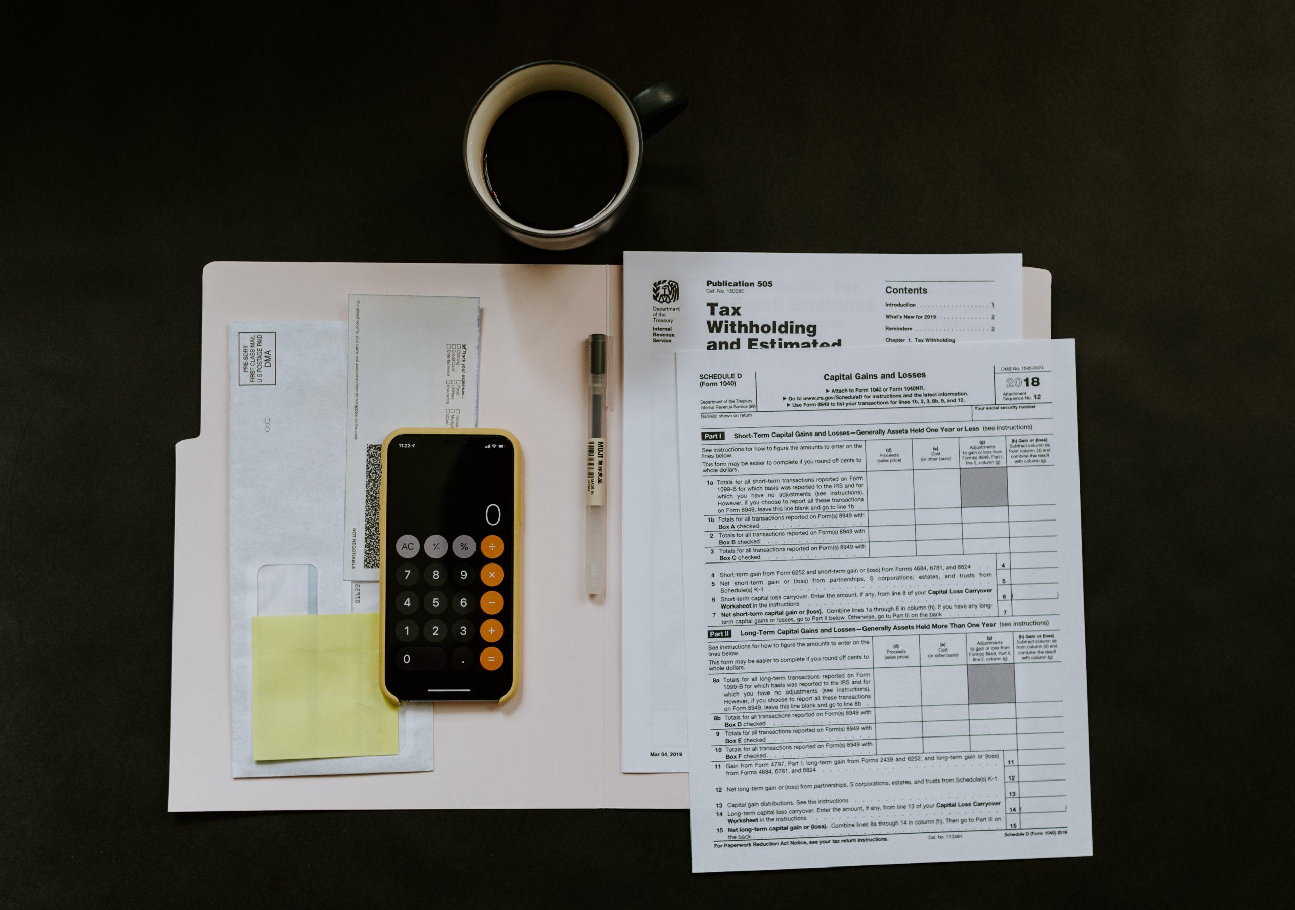Self Assessment Tax Return Paperwork